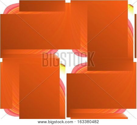 Abstract seamless background in orange, yellow, brown and white colors, sharp corners and rectangles, spots