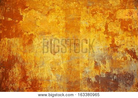 Creative artistic background. multicolor abstract bright art background. The surface is painted in yellow, orange and red colors