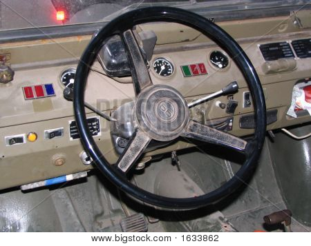 Dashboard Of An Old Army Daf Yp 66 Jeep