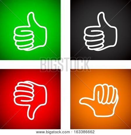 Thumbs Up And Down Set1 [converted].eps