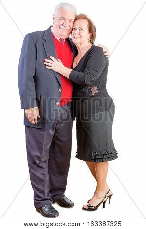 Loving Elderly Couple Celebrating Valentines Day