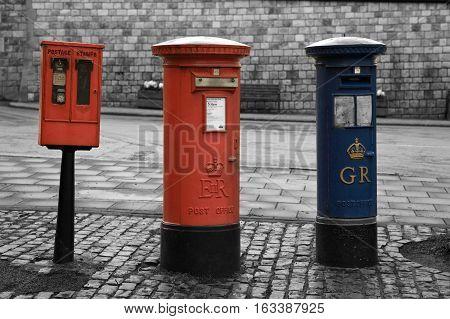 London Post box outside Windsor Castle, United Kingdom