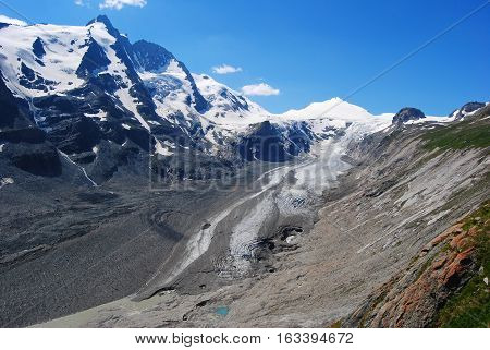 Grossglockner 3798 m , Johannisberg 3453m and Hohe Riffl 3398 m peaks in Austria.