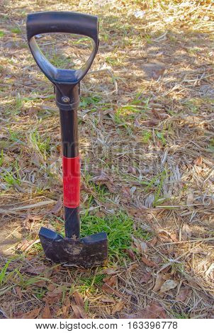 old shovel for digging earth in the garden