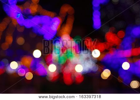 Elegant abstract background with bokeh defocused lights. Abstract circular bokeh background of Christmaslight
