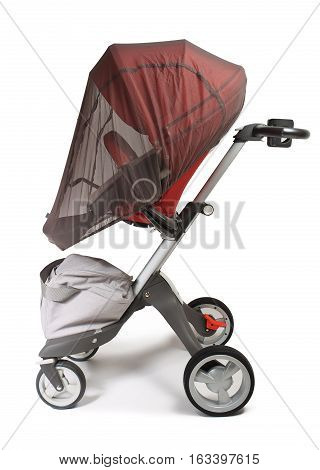 Norway elite baby carriage isolated on a white background