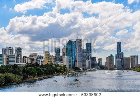 Central Business District In Brisbane, Australia