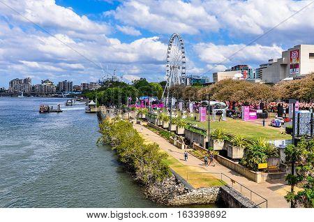 BRISBANE, AUSTRALIA - SEPTEMBER 9, 2012: View of the Riverside Festival in Brisbane Australia