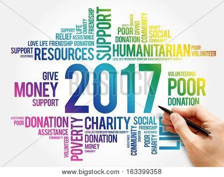 2017 Help Word Cloud Social Concept