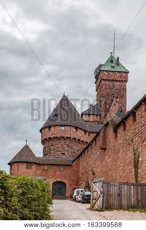 Haut-Koenigsbourg Castle is a medieval castle located at Orschwiller Alsace France
