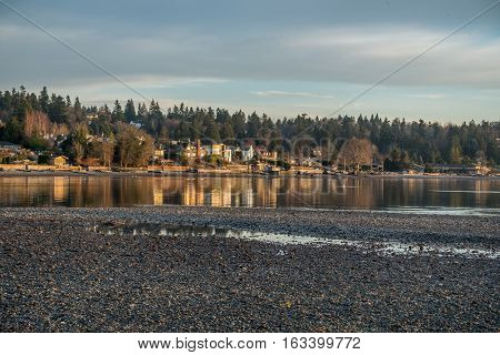 A view of shoreline homes in Normandy Park Washington.
