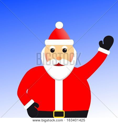 Santa wishes you a Merry Christmas and Happy New Yer
