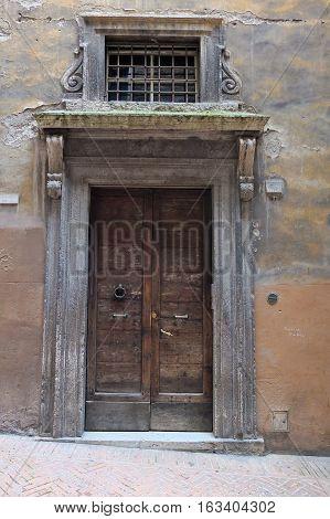 4 may 2014-perugia-italy-antique doors in the city of Perugia