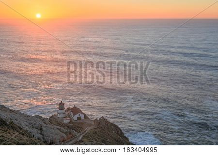 Point Reyes Lighthouse, Sunset. Point Reyes National Seashore, North California, USA