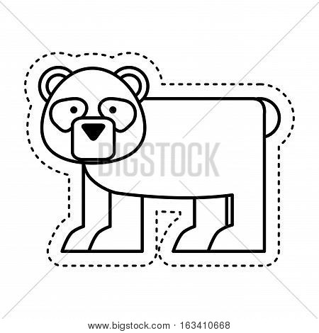 cute bear panda character icon vector illustration design