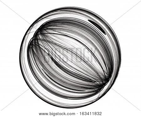 abstract sketch, isolated on the white background