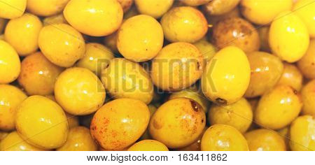 close up shot of the yellow plums