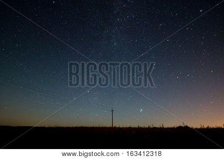 Beautiful night sky and Perseid meteor shower in Belarus august 2016