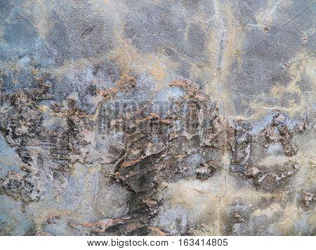 , Pared manchada, con arcas de grietas y humedad