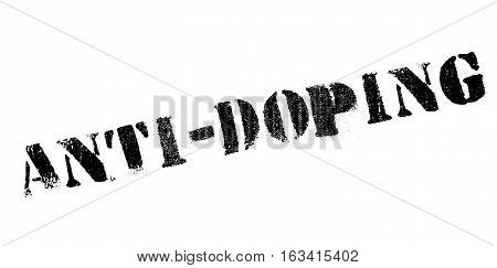Anti-Doping rubber stamp. Grunge design with dust scratches. Effects can be easily removed for a clean, crisp look. Color is easily changed.