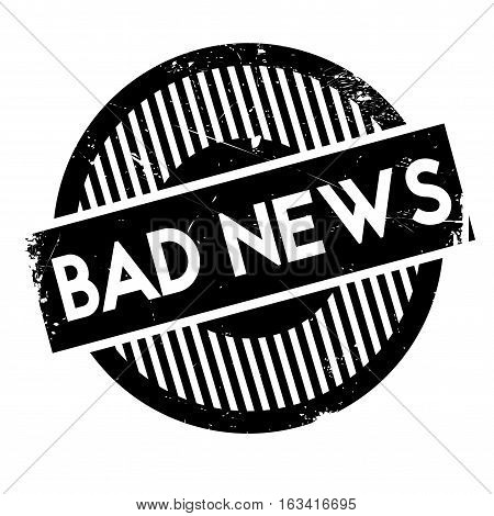 Bad News rubber stamp. Grunge design with dust scratches. Effects can be easily removed for a clean, crisp look. Color is easily changed.