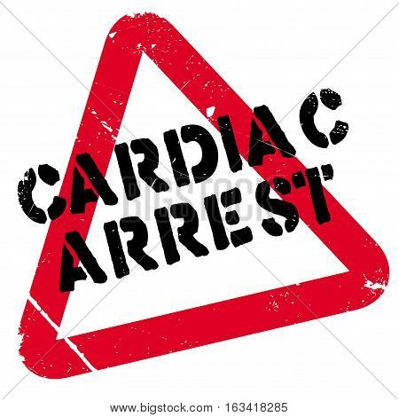 Cardiac Arrest rubber stamp. Grunge design with dust scratches. Effects can be easily removed for a clean, crisp look. Color is easily changed.