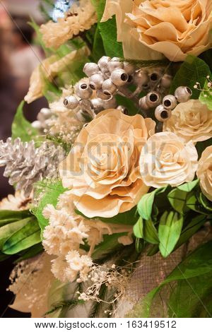 Imitation bouquet of beautiful flower, stock photo