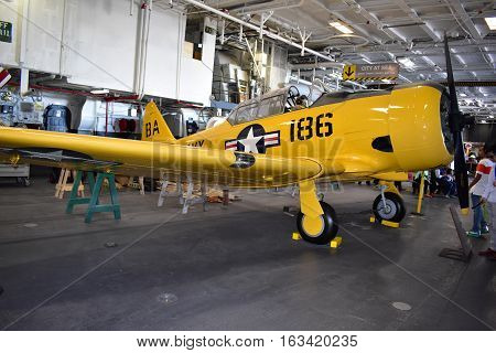 San Diego, California - Usa - Dec 04,2016 - Navcad Roger In Uss Midway Museum
