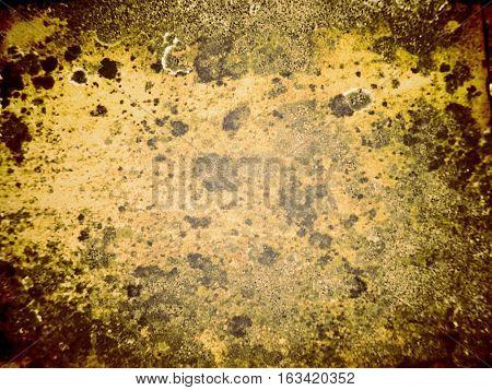 Fragmento de chapa oxidada. Textura de metal oxidado