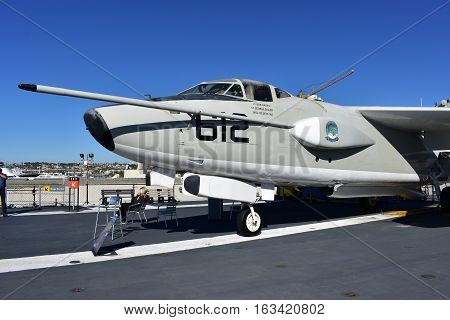 San Diego, California - Usa - Dec 04,2016 - Aircraft 612 In Uss Midway Museum