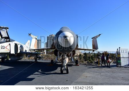San Diego, California - Usa - Dec 04,2016 - Aircraft  F/a - 18 Hornet