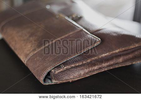 Background Image of bag leather Vintage Style