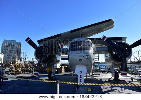 San Diego, California - Usa - Dec 04,2016 - East Way Airline In Uss Midway Museum