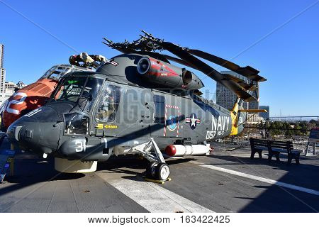 San Diego, California - Usa - Dec 04,2016 - Utility Helicopters Navy