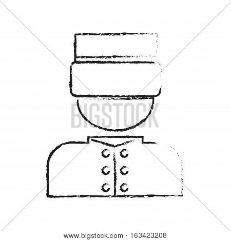bellhop man icon over white background. hotel services concept. vector illustration