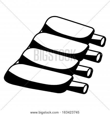 ribs butchery product icon vector illustration design