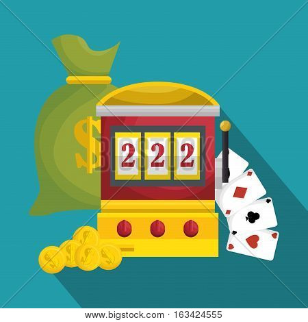 slot machine casino icon vector illustration design