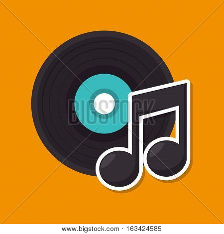 music retro vinyl icon vector illustration design