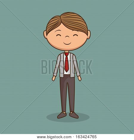 cute gentleman character icon vector illustration design