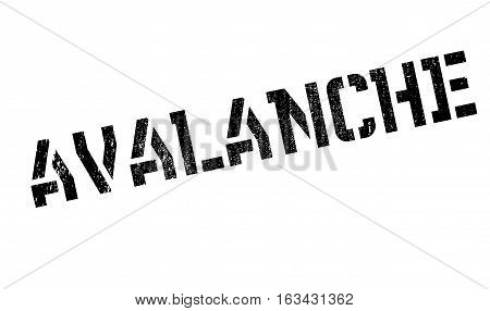 Avalanche rubber stamp. Grunge design with dust scratches. Effects can be easily removed for a clean, crisp look. Color is easily changed.