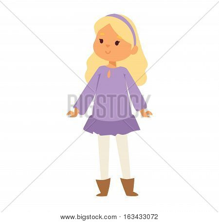 Young happy girl smiling. Vector illustration beauty person emotions lifestyle. Caucasian natural lady face. Pretty avatar positive joy human.