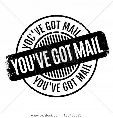 You have Got Mail rubber stamp. Grunge design with dust scratches. Effects can be easily removed for a clean, crisp look. Color is easily changed.