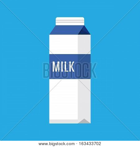 paper packet with milk isolated on white. vector illustration in flat style