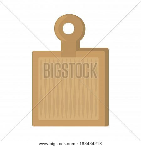 woden cutting board kitchen and cooking utensils vector illustration eps 10