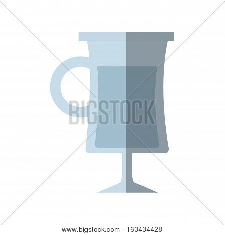 glass cup alcohol drink shadow vector illustration eps 10