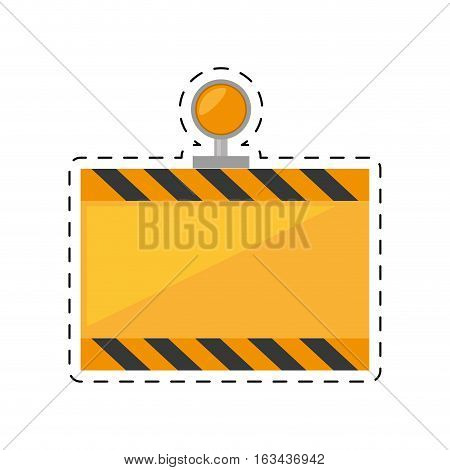 under constuction board light cut line vector illustration eps 10