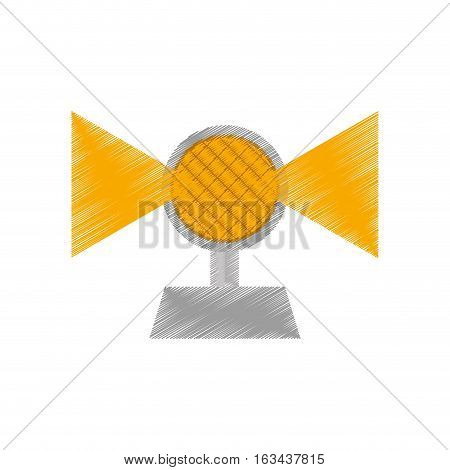 drawing light alert mining caution sign vector illustration eps 10