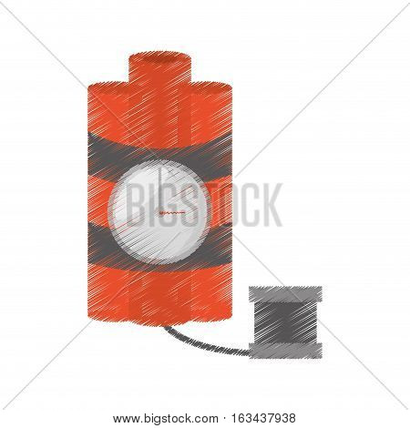 drawing dynamite sticks mining clock cable vector illustration eps 10