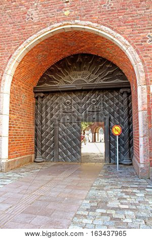 Gate of the building of a City Hall, Stockholm, Sweden