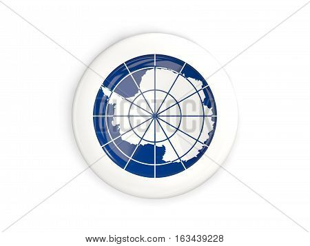 Flag Of Antarctica, Glossy Round Button